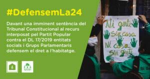 Defensem la Llei 24/2015! Exigim al PSOE que la blindi urgentment amb un acord bilateral Estat-Generalitat, abans que el Tribunal Constitucional emeti sentència