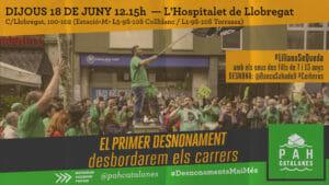 Read more about the article La PAH tornem al carrer i aturem el primer desnonament a porta en ple estat d'alarma