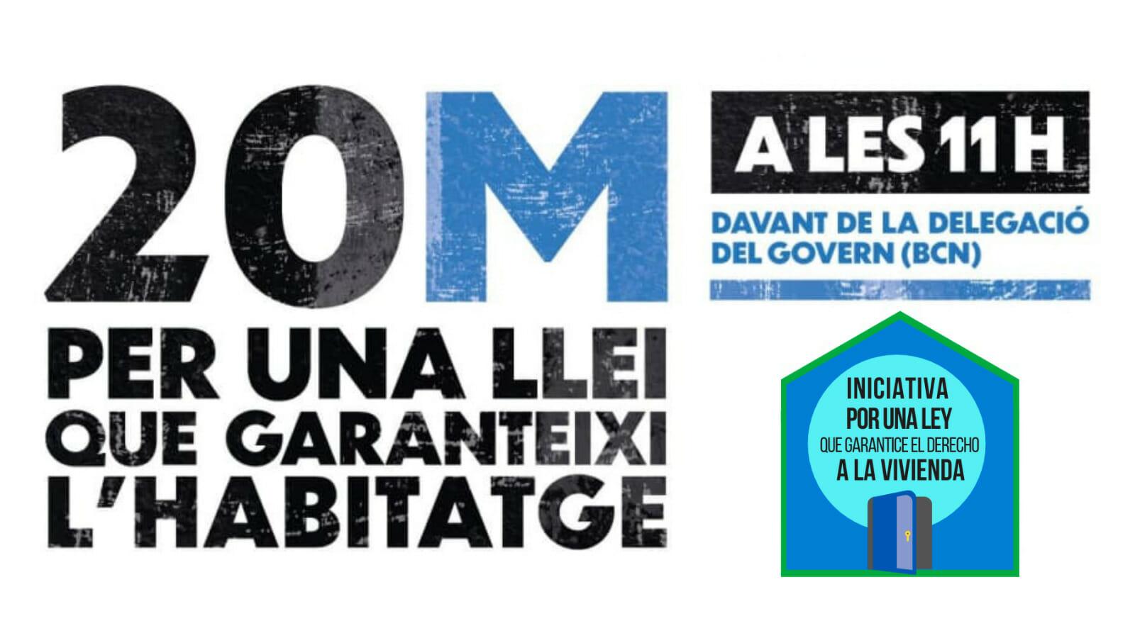 Read more about the article Hem decidit Dret a l'habitatge. El 20M sortim al carrer!