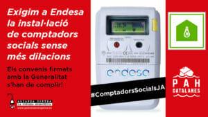 Read more about the article Exigim a Endesa la instal·lació de comptadors socials sense més dilacions