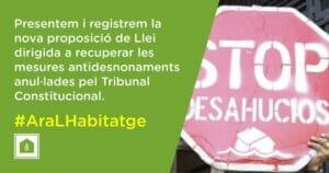 Read more about the article Presentem i registrem la nova proposició de Llei dirigida a recuperar les mesures antidesnonaments anul·lades pel Tribunal Constitucional.
